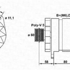 Generator / Alternator FIAT PUNTO 1.4 GT Turbo - MAGNETI MARELLI 943356334010 - Alternator auto
