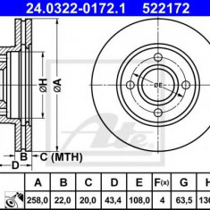 Disc frana FORD FIESTA Mk IV 1.3 i - ATE 24.0322-0172.1 - Discuri frana REINZ