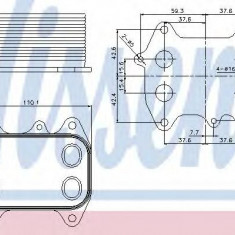 Radiator ulei, ulei motor VW PASSAT 1.6 TDI - NISSENS 90681 - Radiator auto ulei