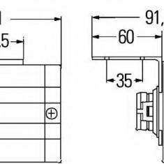 Lampa laterala - HELLA 2PS 340 000-171