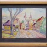 Peisaj rural - semnat Szuhanek '960 - Pictor roman, Portrete, Ulei, Altul