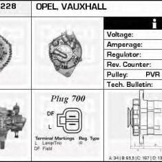 Generator / Alternator OPEL ASTRA H Van 1.7 CDTI - DELCO REMY DRA4228 - Alternator auto