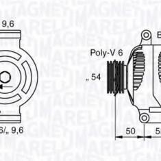 Generator / Alternator FIAT PANDA 1.3 D Multijet 4x4 - MAGNETI MARELLI 063358062010 - Alternator auto