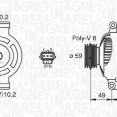 Generator / Alternator FORD MONDEO Mk III limuzina 1.8 16V - MAGNETI MARELLI 063380004010 - Alternator auto