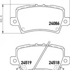 Placute frana ATE HONDA CIVIC VIII Hatchback 1.4 - HELLA 8DB 355 006-751