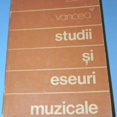 Studii si eseuri muzicale - Zeno Vancea (1504 - Carte Arta muzicala