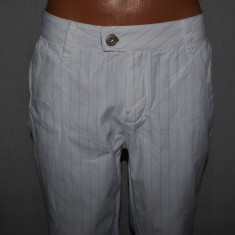 Pantaloni barbati SCOTCH AND SODA autentici albi cu dungi albastre marimea W32, Lungi, Bumbac