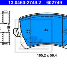 Placute frana REINZ SEAT ALHAMBRA 1.4 TSI - ATE 13.0460-2749.2
