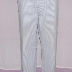 Pantaloni barbati GANT autentici din seersucker din bumbac marimea 54, Culoare: Alb, Lungi