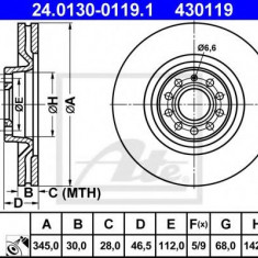 Disc frana AUDI A4 S4 quattro - ATE 24.0130-0119.1 - Discuri frana REINZ