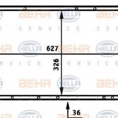 Radiator, racire motor RENAULT 18 limuzina 2.1 Diesel - HELLA 8MK 376 715-511 - Radiator racire LuK