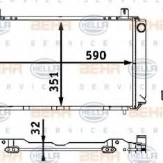 Radiator, racire motor NISSAN PULSAR II 1.7 D - HELLA 8MK 376 708-271 - Radiator racire LuK