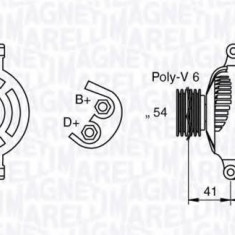 Generator / Alternator FIAT PUNTO 1.3 D Multijet - MAGNETI MARELLI 063377022010 - Alternator auto