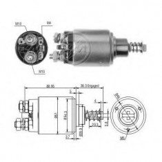 Solenoid, electromotor - ERA 227435 - Solenoid Auto