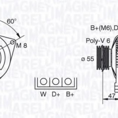 Generator / Alternator FORD TRANSIT bus 2.0 i - MAGNETI MARELLI 063341345010 - Alternator auto