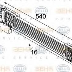 Radiator ulei, ulei motor VW PASSAT Variant 2.0 TDI - HELLA 8MO 376 747-131 - Radiator auto ulei