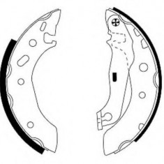 Set saboti frana FORD ESCORT Mk VII 1.6 16V 4x4 - HELLA 8DB 355 001-731 - Tambur ATE