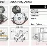 Starter FIAT PUNTO EVO 1.3 D Multijet - DELCO REMY DRS0063 - Electromotor Nissens