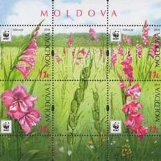 MOLDOVA 2016, Flora - WWF, serie neuzata, MNH, Nestampilat