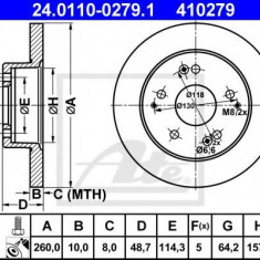 Disc frana HONDA CIVIC VII Hatchback 1.4 iS - ATE 24.0110-0279.1 - Discuri frana REINZ