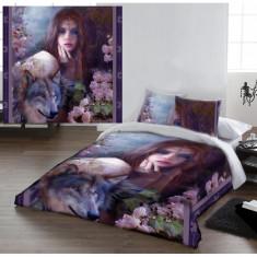 Set lenjerie de pat din bumbac Trandafirul nopții 200x200