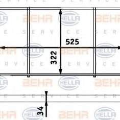 Radiator, racire motor AUDI FOX 1.3 - HELLA 8MK 376 713-304 - Radiator racire LuK
