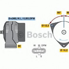 Generator / Alternator MAN NL NL 313 - BOSCH 0 986 046 590 - Alternator auto