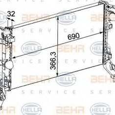 Radiator, racire motor RENAULT LAGUNA III 2.0 dCi - HELLA 8MK 376 745-191 - Radiator racire LuK