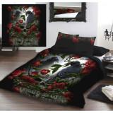 Set lenjerie de pat din bumbac Grădina Tristeții 220x230