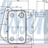 Radiator ulei, ulei motor MERCEDES-BENZ C-CLASS T-Model C 220 CDI - NISSENS 90622
