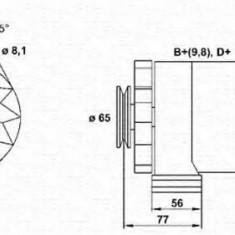 Generator / Alternator AUDI 4000 1.3 - MAGNETI MARELLI 943356729010 - Alternator auto