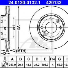 Disc frana CITROËN ZX 1.9 TD - ATE 24.0120-0132.1 - Discuri frana REINZ