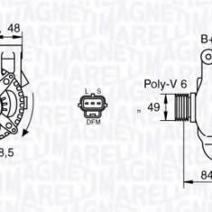 Generator / Alternator FORD FOCUS C-MAX 1.8 - MAGNETI MARELLI 063377417010 - Alternator auto