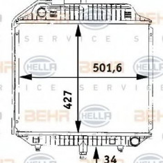 Radiator, racire motor MERCEDES-BENZ 100 bus D - HELLA 8MK 376 706-201 - Radiator racire LuK