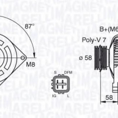 Generator / Alternator TOYOTA ESTIMA 16V - MAGNETI MARELLI 063377435010 - Alternator auto