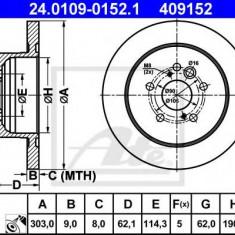 Disc frana TOYOTA RAV 4 Mk II 1.8 VVTi - ATE 24.0109-0152.1 - Discuri frana REINZ