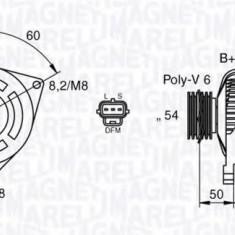 Generator / Alternator FORD FOCUS II 2.0 TDCi - MAGNETI MARELLI 063377419010 - Alternator auto