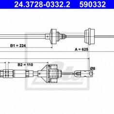 Cablu ambreiaj CITROËN XSARA 1.4 i - ATE 24.3728-0332.2