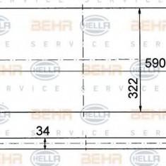 Radiator, racire motor SKODA FELICIA  1.6 LX - HELLA 8MK 376 714-591 - Radiator racire LuK