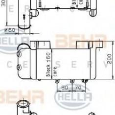 Radiator, retarder - HELLA 8MO 376 765-371 - Radiator racire