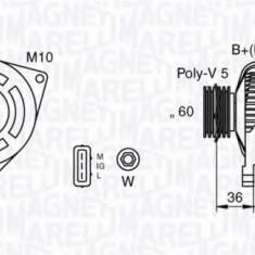 Generator / Alternator TOYOTA AVENSIS Liftback 2.0 VVT-i - MAGNETI MARELLI 063377433010 - Alternator auto