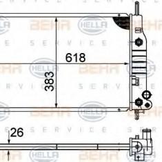 Radiator, racire motor FORD MONDEO  1.6 i 16V - HELLA 8MK 376 724-541 - Radiator racire LuK
