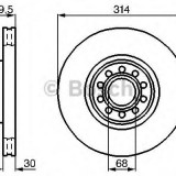Disc frana AUDI A8 limuzina 2.5 TDI quattro - BOSCH 0 986 478 617