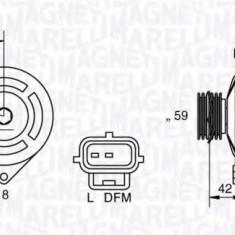 Generator / Alternator FORD FIESTA Mk IV 1.8 DI - MAGNETI MARELLI 063341758010 - Alternator auto