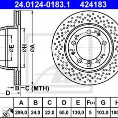 Disc frana PORSCHE 911 3.6 Carrera - ATE 24.0124-0183.1 - Discuri frana REINZ
