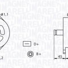 Generator / Alternator IVECO EuroCargo 60 E 10 - MAGNETI MARELLI 063320060010 - Alternator auto
