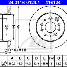 Disc frana FIAT DUCATO caroserie 140 Natural Power - ATE 24.0116-0124.1 - Discuri frana REINZ