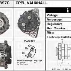 Generator / Alternator OPEL ASTRA G hatchback 1.2 16V - DELCO REMY DRB3970 - Alternator auto