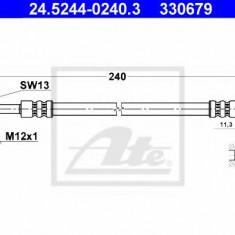 Furtun frana AUDI A4 limuzina 1.6 - ATE 24.5244-0240.3, REINZ