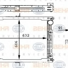 Radiator, racire motor MERCEDES-BENZ MK 1222 - HELLA 8MK 376 709-321 - Radiator racire LuK